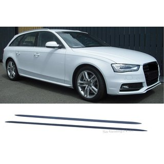 For Audi A4-A5-A6-A7 2008-2014 Audi S-Line Look side skirts
