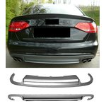 For Audi A4 B8 2008-2012 S-Look diffusor (prefacelift)