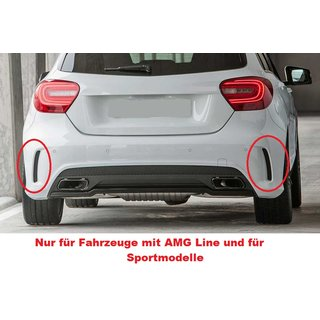 For Mercedes-Benz A-Class W176 AMG look rear apron black high gloss Set