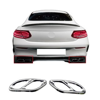 For C-Class Coupe C 36 Look exhaust stainless steel