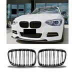 For Bmw 1 Series F20 M-Look Grill Black High Gloss