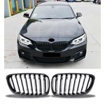 For BMW 2 Series F22 F23 F87 Black High Gloss Grill