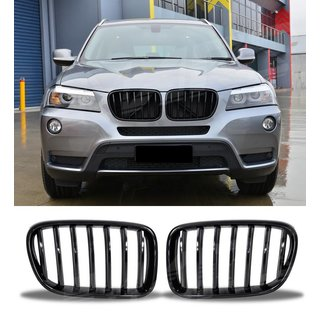 For Bmw X3 F25 M Look Black High Gloss Grill